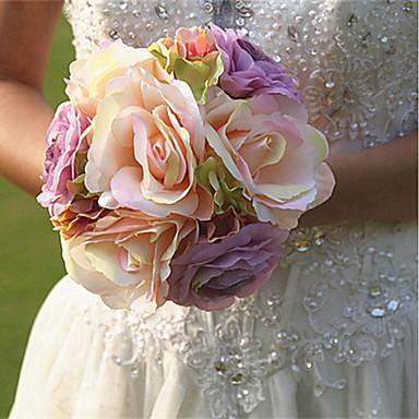 زهور اصطناعية 8.0 فرع كلاسيكي فردي أنيق النمط الرعوي الورود أزهار الطاولة