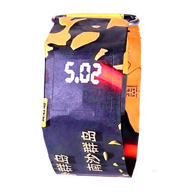levne Pánské-Pánské Dámské Sportovní hodinky Digitální hodinky Digitální Černá / Bílá / Modrá 100 m Voděodolné Chronograf kreativita Digitální Barevná Minimalistické - Camouflage Green Camouflage Brown Bíl / LCD