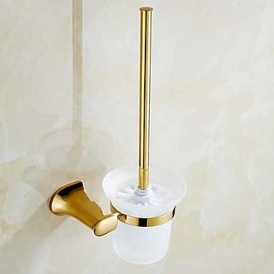 حاملة فرشاة التواليت تصميم جديد / كوول معاصر نحاس 1PC حامل فرشاة الحمام مثبت على الحائط