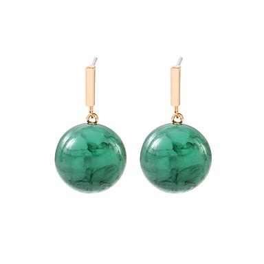 نسائي فينتاج أقراط الزر الأقراط سيدات بسيط أوروبي موضة مجوهرات أخضر من أجل مناسب للحفلات 1 زوج