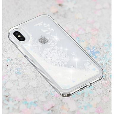 voordelige iPhone 7 hoesjes-hoesje Voor Apple iPhone X / iPhone 8 Plus / iPhone 8 Stromende vloeistof / Transparant / Patroon Achterkant Paardebloem / Bloem Zacht TPU