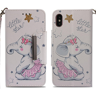 8 iPhone X per supporto iPhone Integrale Porta Plus credito portafoglio A pelle Per iPhone 8 Elefante di iPhone 8 Custodia Plus X 06878469 iPhone Resistente Apple carte Con sintetica wRq1XtxE