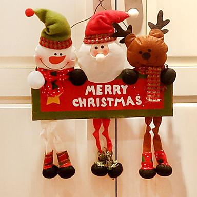 عيد الميلاد الحلي كرتون قماش مربع حداثة زينة عيد الميلاد