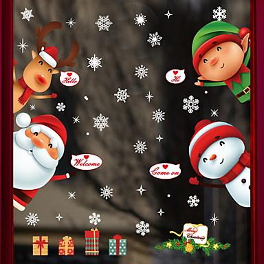 فيلم نافذة وملصقات زخرفة عيد الميلاد عطلة / شخصية PVC ملصق النافذة