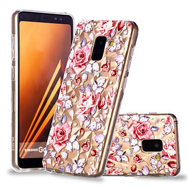 غطاء من أجل Samsung Galaxy A6 (2018) / A6+ (2018) / A8 2018 نموذج غطاء خلفي زهور ناعم TPU