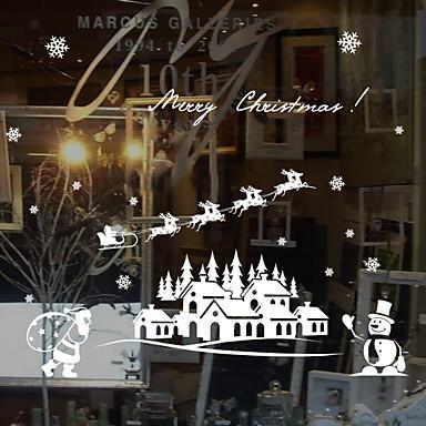 فيلم نافذة وملصقات زخرفة عيد الميلاد طباعة / عطلة PVC ملصق النافذة / غرفة الطعام / شوب / مقهى