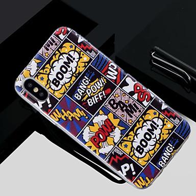 غطاء من أجل Apple iPhone X / iPhone 8 Plus / iPhone 8 شبه شفّاف / نموذج غطاء خلفي جملة / كلمة ناعم TPU