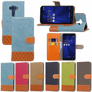 غطاء من أجل Asus Asus Zenfone 3 ZE520KL(5.2) / Asus Zenfone 3 Max ZC553KL / Asus Zenfone 3 Max ZC520TL محفظة / حامل البطاقات / مع حامل غطاء كامل للجسم قرميدة قاسي منسوجات