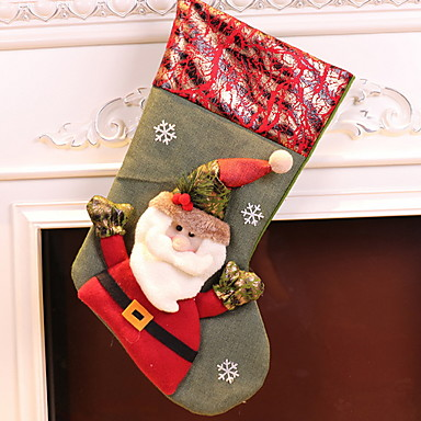 جوارب عطلة / كرتون كنفا مربع حداثة زينة عيد الميلاد