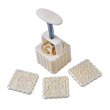 أدوات خبز بلاستيك / معدن كوول / متعددة الوظائف كعكة دائري / مربع قوالب الكيك 16PCS