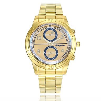 رجالي ساعة فستان ساعة المعصم كوارتز ذهبي ساعة كاجوال طرد كبير مماثل كلاسيكي كاجوال موضة - ذهبي أبيض أزرق سنة واحدة عمر البطارية