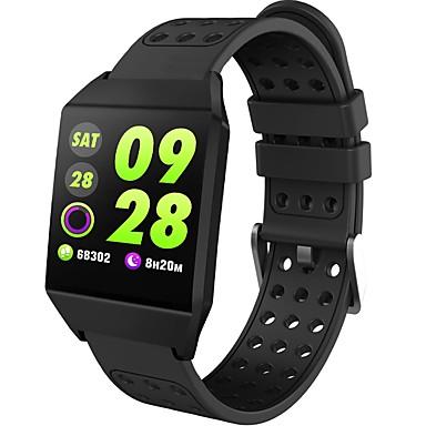 BoZhuo W1 الرجال النساء سوار الذكية Android iOS بلوتوث ضد الماء رصد معدل ضربات القلب أصفر فاتح رياضات رمادي داكن عداد الخطى تذكرة بالاتصال متتبع النوم تذكير المستقرة ساعة منبهة