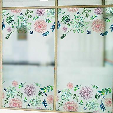 فيلم نافذة وملصقات زخرفة منقوشة وردة PVC ملصق النافذة / بديع