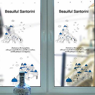 فيلم نافذة وملصقات زخرفة منقوشة شخصية PVC ملصق النافذة