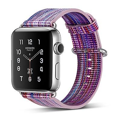 جلد أصلي حزام حزام إلى Apple Watch Series 4/3/2/1 أزرق 23CM / 9 بوصة 2.1cm / 0.83 Inches