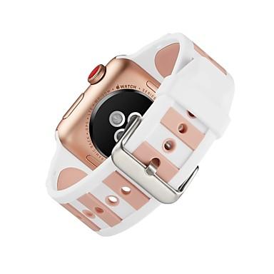 levne Pánské-Silikon Watch kapela Popruh pro Apple Watch Series 4/3/2/1 Černá 23cm / 9 palce 2.1cm / 0.83 palce
