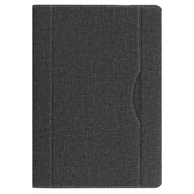 غطاء من أجل Apple iPad (2018) مع حامل غطاء كامل للجسم لون سادة قاسي جلد PU