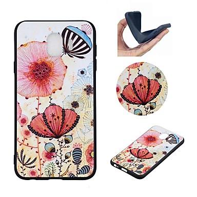 غطاء من أجل Samsung Galaxy J6 / J4 / J2 PRO 2018 نموذج غطاء خلفي فراشة / زهور ناعم TPU