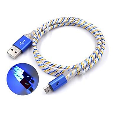 USB مصغر كابل 1m-1.99m / 3ft-6ft الشحن السريع البلاستيك محول كابل أوسب من أجل Samsung / Huawei / نوكيا