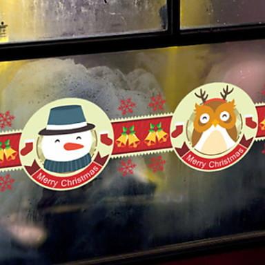 فيلم نافذة وملصقات زخرفة عيد الميلاد عطلة PVC تصميم جديد / كوول