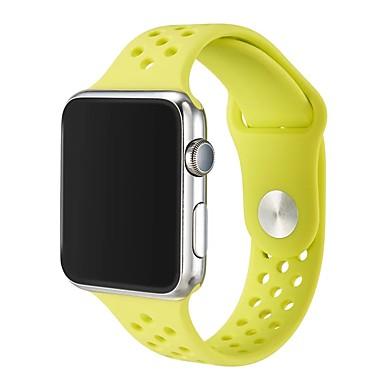 זול שעוני גברים-ג'ל סיליקה צפו בנד רצועה ל Apple Watch Series 4/3/2/1 שחור / לבן / כחול 23cm / 9 אינץ ' 2.1cm / 0.83 אינצ'ים