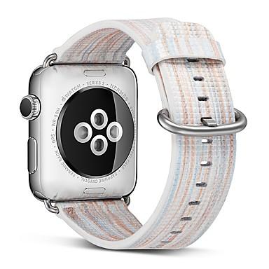 billige Herreklokker-ekte lær Klokkerem Strap til Apple Watch Series 4/3/2/1 Blå 23cm / 9 tommer 2.1cm / 0.83 Tommer