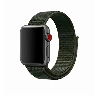 זול רצועות שעון-ניילון צפו בנד רצועה ל Apple Watch Series 4/3/2/1 כחול / ירוק / אפור 23cm / 9 אינץ ' 2.1cm / 0.83 אינצ'ים