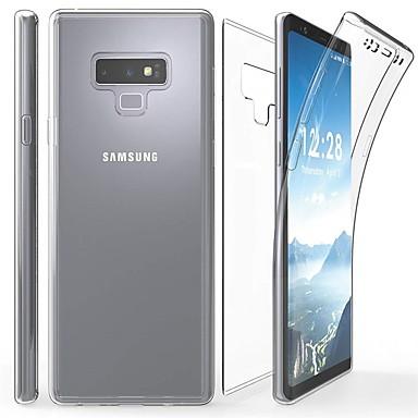 Недорогие Чехлы и кейсы для Galaxy Note-Кейс для Назначение SSamsung Galaxy Note 9 / Note 8 / Note 5 Прозрачный Чехол Однотонный Мягкий ТПУ