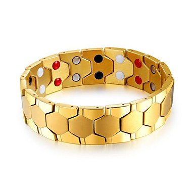 رجالي أسورة ستايل خلاق موضة الصلب التيتانيوم مجوهرات سوار ذهبي / فضي / التقزح اللوني من أجل مناسب للحفلات مناسب للبس اليومي