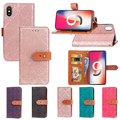 voordelige iPhone X hoesjes-hoesje Voor Apple iPhone XS / iPhone XR / iPhone XS Max Portemonnee / Kaarthouder / met standaard Volledig hoesje Tegel Hard PU-nahka