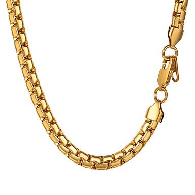 رجالي عقد ربط سلسلة سلسلة مارينر موضة الفولاذ المقاوم للصدأ ذهبي أسود فضي 55 cm قلادة مجوهرات 1PC من أجل هدية مناسب للبس اليومي
