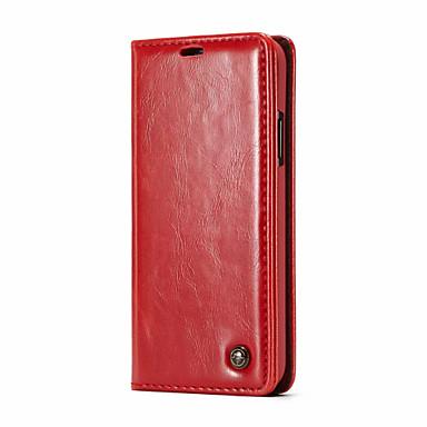 CaseMe غطاء من أجل Apple iPhone X محفظة / حامل البطاقات / قلب غطاء كامل للجسم لون سادة قاسي جلد PU إلى iPhone X / iPhone 8 Plus / iPhone 8