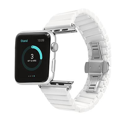 Watch kapela pro Apple Watch Series 4/3/2/1 Apple Klasická spona Keramika Poutko na zápěstí