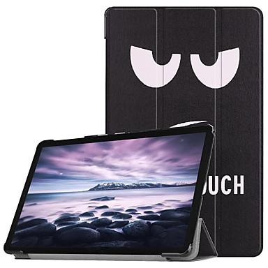 voordelige Samsung Tab-serie hoesjes / covers-hoesje Voor Samsung Galaxy Tab A2 10.5(2018) Flip / Ultradun / Origami Volledig hoesje Eiffeltoren / Uil / Paardebloem Hard PU-nahka