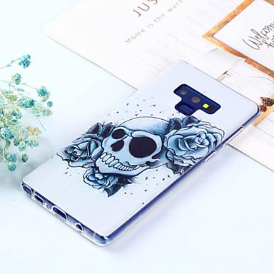 voordelige Galaxy Note-serie hoesjes / covers-hoesje Voor Samsung Galaxy Note 9 / Note 8 Patroon Achterkant Doodskoppen Zacht TPU