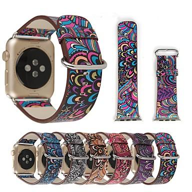 حزام إلى أبل ووتش سلسلة 5/4/3/2/1 Apple عقدة جلدية جلد طبيعي شريط المعصم