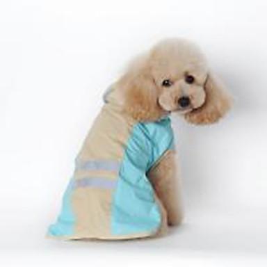 كلاب قطط معطف المطر ملابس الكلاب لون سادة أزرق زهري جلد PU كوستيوم من أجل هاسكي لابرادور Malamute ألاسكا كل الفصول للجنسين مقاومة الماء ضد الرياح