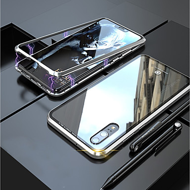 غطاء من أجل Huawei Huawei P20 / Huawei P20 Pro مغناطيس غطاء كامل للجسم لون سادة قاسي زجاج مقوى