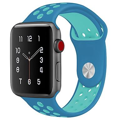 Χαμηλού Κόστους Ανδρικά ρολόγια-Silica Gel Παρακολουθήστε Band Λουρί για Apple Watch Series 4/3/2/1 Μαύρο 23 εκατοστά / 9 ίντσες 2.1cm / 0.83 Ίντσες
