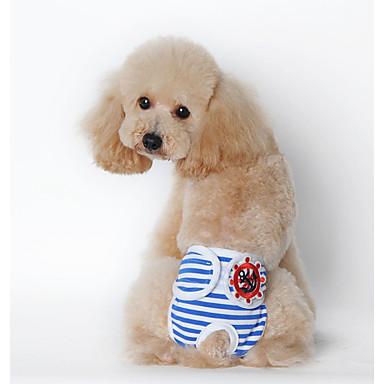 كلاب قطط منامة ملابس الكلاب هندسي أصفر أزرق زهري قطن كوستيوم من أجل كلب البج Bichon فرايز أفطس الربيع الخريف للجنسين تصميم أنيق كاجوال / يومي
