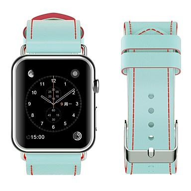Χαμηλού Κόστους Ανδρικά ρολόγια-Ανοξείδωτο Ατσάλι Παρακολουθήστε Band Λουρί για Apple Watch Series 4/3/2/1 Μαύρο / Κόκκινο 23 εκατοστά / 9 ίντσες 2.1cm / 0.83 Ίντσες