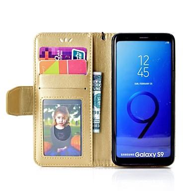 غطاء من أجل Samsung Galaxy S9 / S9 Plus / S8 Plus محفظة / حامل البطاقات / مع حامل غطاء كامل للجسم جملة / كلمة قاسي جلد PU