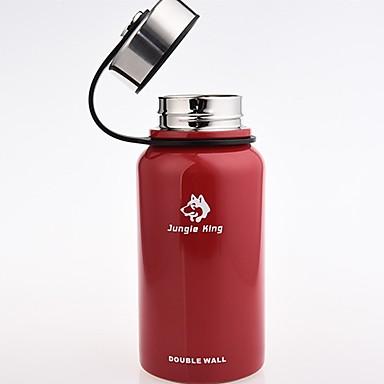 Jungle King كوب للتخييم 0.61 L كأس فراغ الاحتفاظ بالحرارة إلى عن على ستانلس ستيل في الهواء الطلق أسود أحمر أخضر