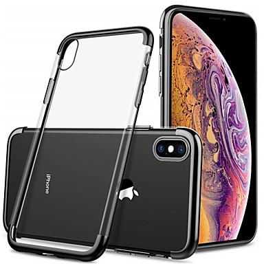 voordelige iPhone 6 hoesjes-hoesje Voor Apple iPhone XS / iPhone XR / iPhone XS Max Beplating / Transparant Achterkant Effen Zacht TPU