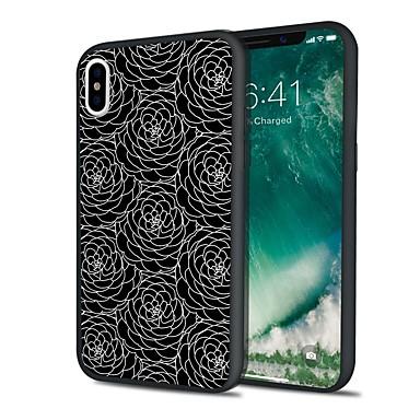 voordelige iPhone 6 hoesjes-hoesje Voor Apple iPhone X / iPhone 8 Plus / iPhone 8 Mat Achterkant Cartoon / Lace Printing / Bloem Hard TPU