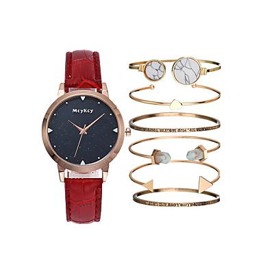 44e90394f03 Mulheres Relógio de Pulso Quartzo Couro Preta   Branco   Azul Cronógrafo  Fofo Luminoso Analógico senhoras
