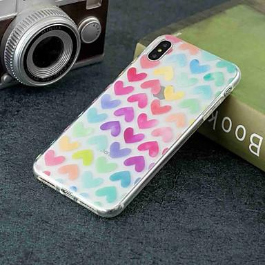 Case Kompatibilitás Apple iPhone XR / iPhone XS Max Átlátszó / Minta Fekete tok Szív Puha TPU mert iPhone XS / iPhone XR / iPhone XS Max