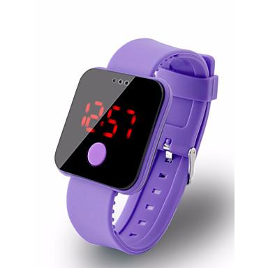 זול שעוני גברים-בגדי ריקוד גברים שעון דיגיטלי דיגיטלי סיליקוןריצה שחור / לבן / אדום 30 m עמיד במים LCD דיגיטלי יום יומי אופנתי - אדום ירוק כחול