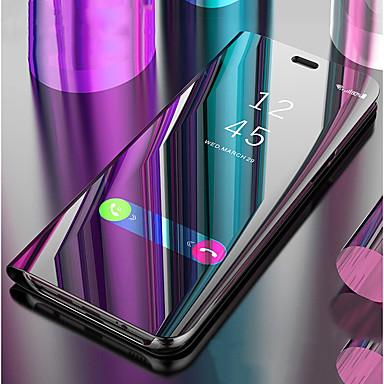 غطاء من أجل Samsung Galaxy S9 / S8 مع حامل / مرآة / قلب غطاء كامل للجسم لون سادة قاسي جلد PU إلى S9 / S9 Plus / S8 Plus