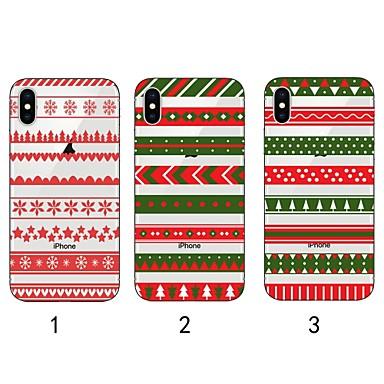 voordelige iPhone X hoesjes-hoesje Voor Apple iPhone XS / iPhone XR / iPhone XS Max Ultradun / Transparant / Patroon Achterkant Kerstmis Zacht TPU